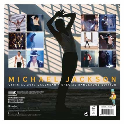 Michael Jackson Official 2017 Calendar back